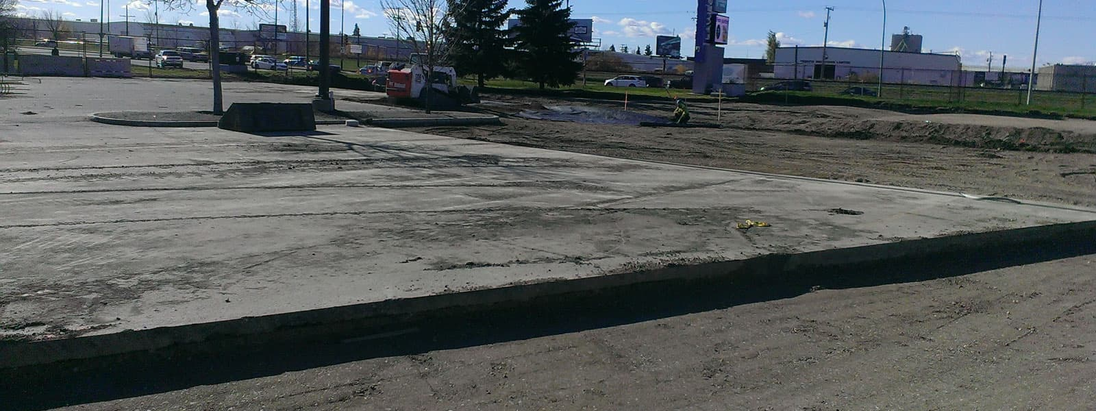 Excavation repair at Lawson Heights Mall